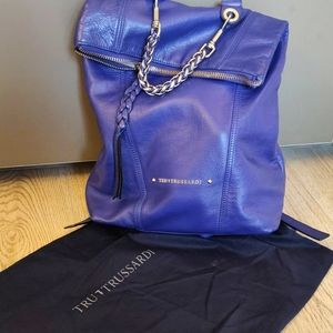 Trussardi (Italy) Blue Leather Backpack